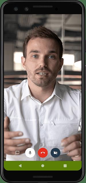 Videokonferenz mit der zooo-App für smartphones