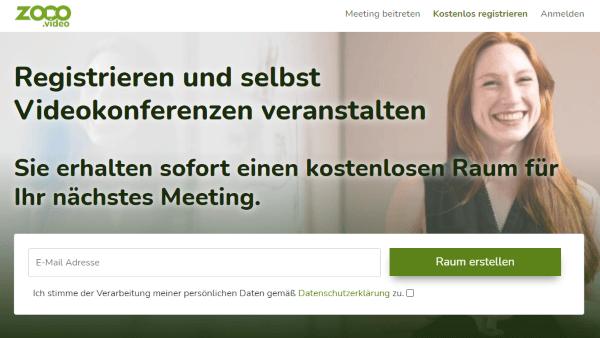 Für Video-Meeting registrieren